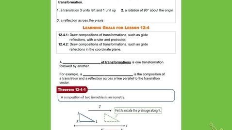 "Thumbnail for entry GeoB  Lesson 12:4: ""Composite of Transformations"""