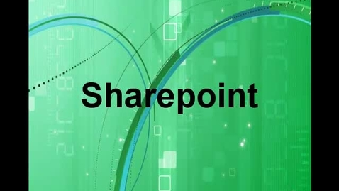 Thumbnail for entry SharePoint