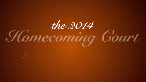 Thumbnail for entry Homecoming Court nominees introduce themselves