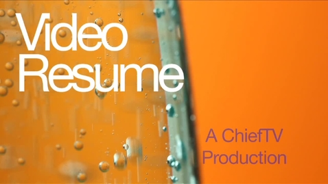 Thumbnail for entry Video Resume - Karis Agnew - ChiefTV
