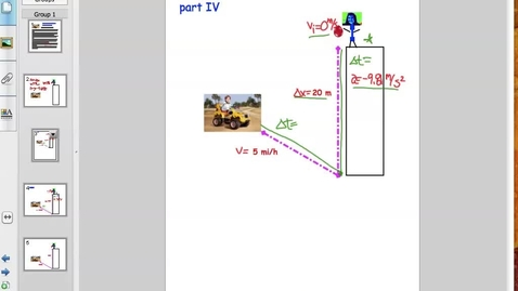 Thumbnail for entry Free Fall Problems - Mrs. Grantham's Fabulous Physics part IV