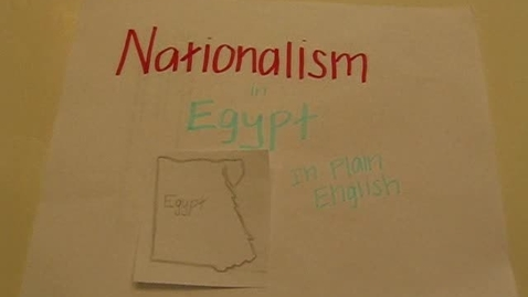Thumbnail for entry Nationalism in Egypt in Plain English