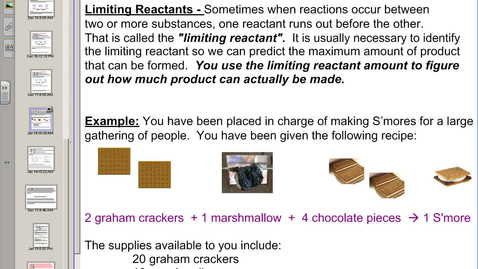 Thumbnail for entry Video 5:  Limiting Reactants