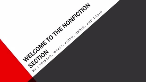 Thumbnail for entry Welcome to the Non-Fiction Section H3