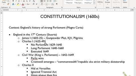 Thumbnail for entry Euro Review 6: Constitutionalism and Wars