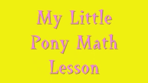 Thumbnail for entry My Little Pony - How to Find Volume