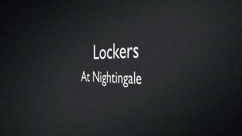 Thumbnail for entry School Lockers