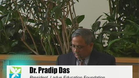 Thumbnail for entry LEF Community Breakfast - Dr. Pradip Das, part 2