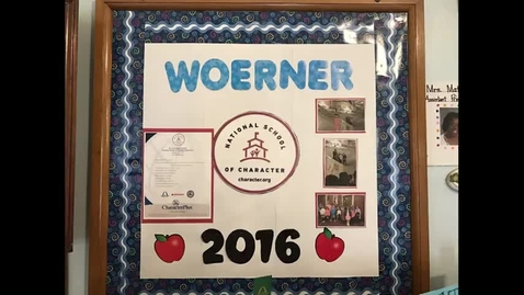 Thumbnail for entry Woerner Elementary Student Leaders (Character Crew/Peer Mediators/Safety Patrol)