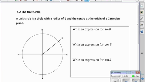 Thumbnail for entry PC30 4.2 The Unit Circle