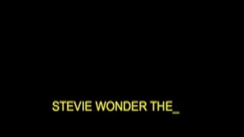 Thumbnail for entry Stevie Wonder