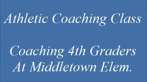 Thumbnail for entry Spring Athletic Coaching