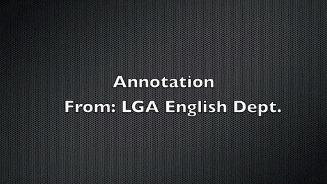 Thumbnail for entry Annotation