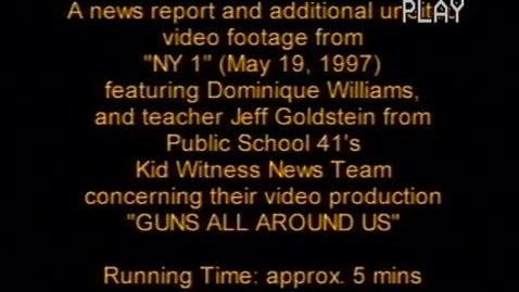 "Thumbnail for entry (1997) NEWS REPORT - KWN on ""NY 1"""