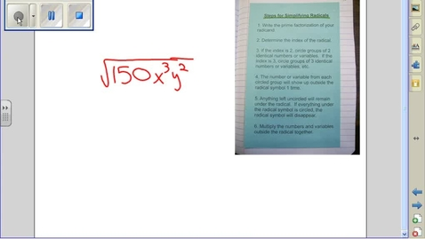 Thumbnail for entry Simplifying Radicals example 14