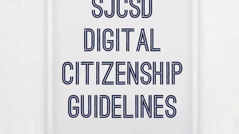 Thumbnail for entry Digital Citizenship Guidelines