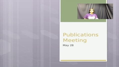 Thumbnail for entry Publications Meeting