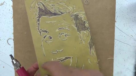 Thumbnail for entry Linoleum Block Print 5: Creating Texture