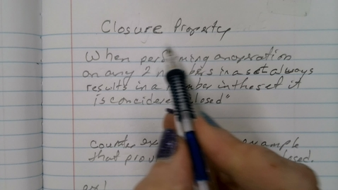 Thumbnail for entry Closure Property