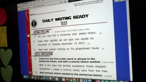 Thumbnail for entry WRITING TEST VIDEO