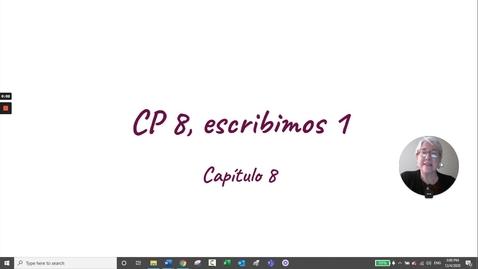Thumbnail for entry CP 8 ESCRIBIMOS