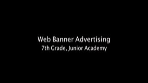 Thumbnail for entry The Banner Ad: Advertising on the Internet