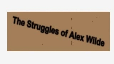 Thumbnail for entry Alex Wilde Stop Motion