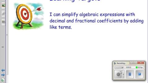 Thumbnail for entry 3.1 Adding Algebraic Terms