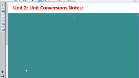 Thumbnail for entry Unit 2: Unit Conversions Notes