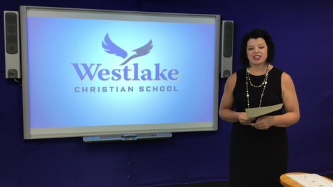 Thumbnail for entry WESTLAKE ELEMENTARY SCHOOL CHAPEL INTRO 5/22