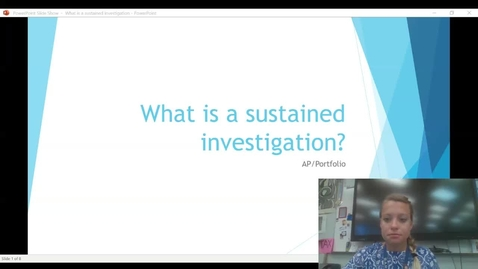 Thumbnail for entry What is sustained investigation_