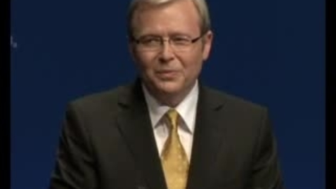 Thumbnail for entry Kevin Rudd's 2007 federal election campaign launch