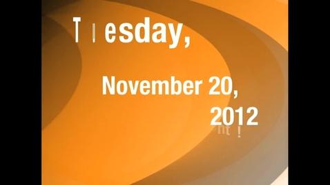 Thumbnail for entry Tuesday, November 20, 2012