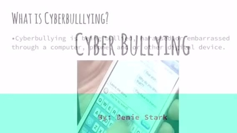 Thumbnail for entry Cyberbullying