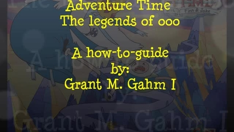 Thumbnail for entry Adventure time the legends of OOO walkthrough part 1 (GG)
