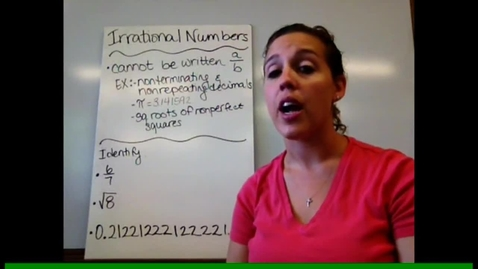 Thumbnail for entry Pre-Alg - Sect 2-5 Irrational Numbers