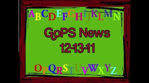Thumbnail for entry GoPS News 12-13-11
