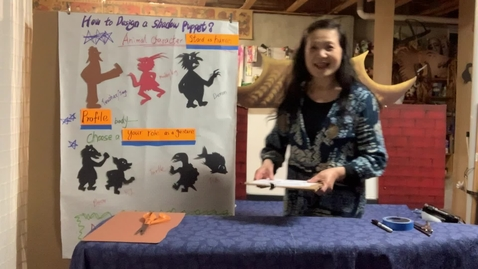Thumbnail for entry 4thGr Chinese ShadowPuppet Theater T.HuaHua Lesson 8