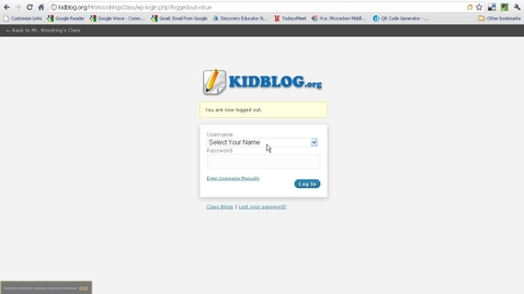 Thumbnail for entry How to Login and Navigate Kidblog