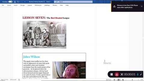 Thumbnail for entry Sherlock Holmes Lesson 7