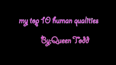 Thumbnail for entry Queen's Top 10 Human Qualities - 2016/2017 BB