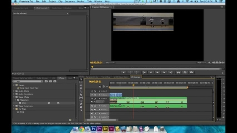 Thumbnail for entry How To Video - Premiere Editing - Step 6