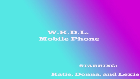 Thumbnail for entry Mobile Phones - Beginning Broadcasting 2015/2016