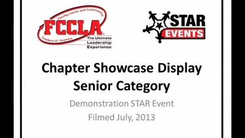 Thumbnail for entry FCCLA STAR Events Demonstration Chapter Showcase Display Senior (Fulda)