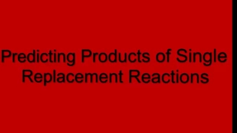 Thumbnail for entry Predicting Products: Single Replacement