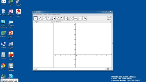 Thumbnail for entry Create a scatterplot in Geogebra