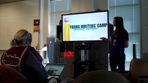 Thumbnail for entry Young Writers' Camp Practice Design Presentation