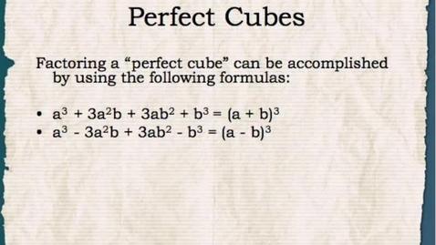 Thumbnail for entry Math 1: Factoring Polynomials