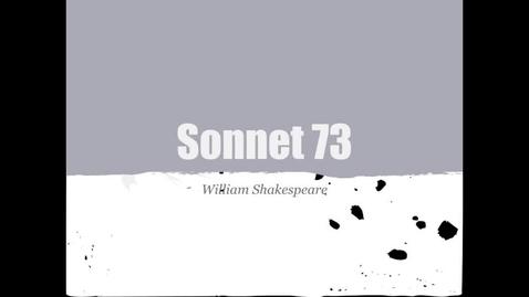 Thumbnail for entry Sonnet 73 Austin and Pilar
