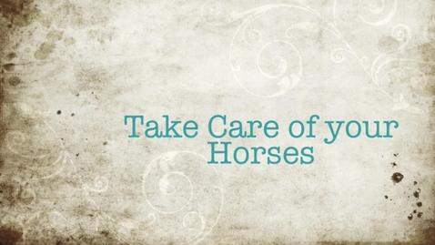 Thumbnail for entry Horse Care E